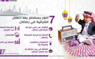 7 أمور يستمتع بها أطفال الشرقية في رمضان