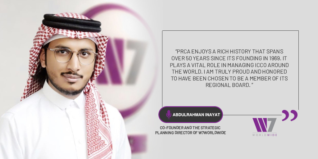 Inayat, the youngest member to join PRCA MENA Regional Board