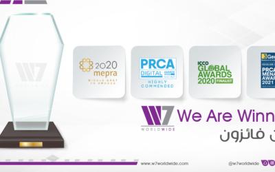 وكالة W7Worldwide المستقلة تحصد عددًا قياسيًّا من جوائز العلاقات العامة