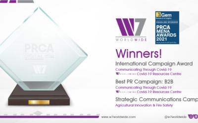 W7Worldwide تفوز بأفضل حملة علاقات عامة دوليّة في 2021