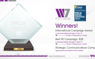 GCC Agency W7Worldwide Announced Winner of Best International Campaign PRCA MENA Awards 2021